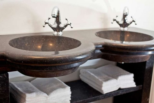 Badkamer stenen wastafel marmeren wastafel and stenen spoelbak granite sink wasbak badkamer - Stenen wastafel ...