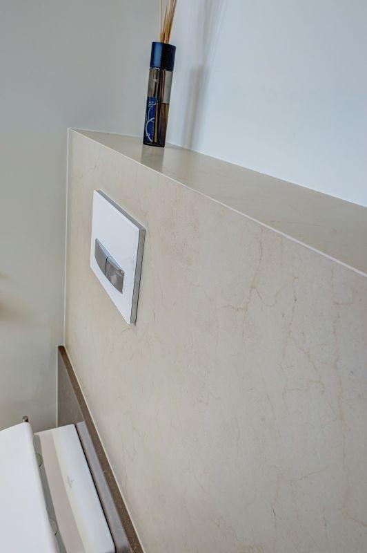 Spoelbak voor badkamer badmeubel beton look dubbele wasbak op maat gemaakt badkamer - Badkamer in m ...